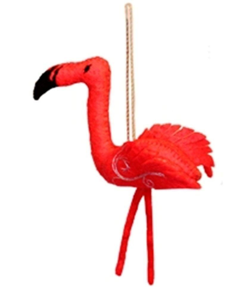 Silk Road Bazaar Flamingo Wool Ornament