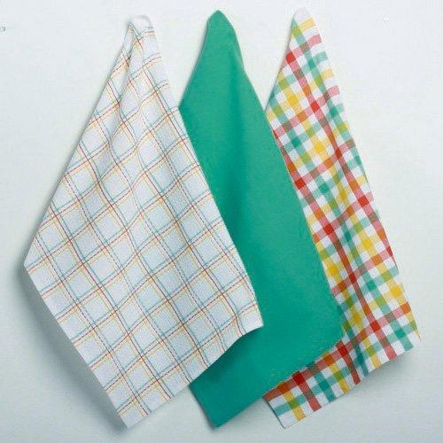 Betty's Kitchen Plaid Dishtowels, Set of 3 By TAG