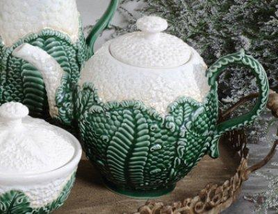 """Cauliflower"" Teapot by Creative Co-op - Shorter Version"