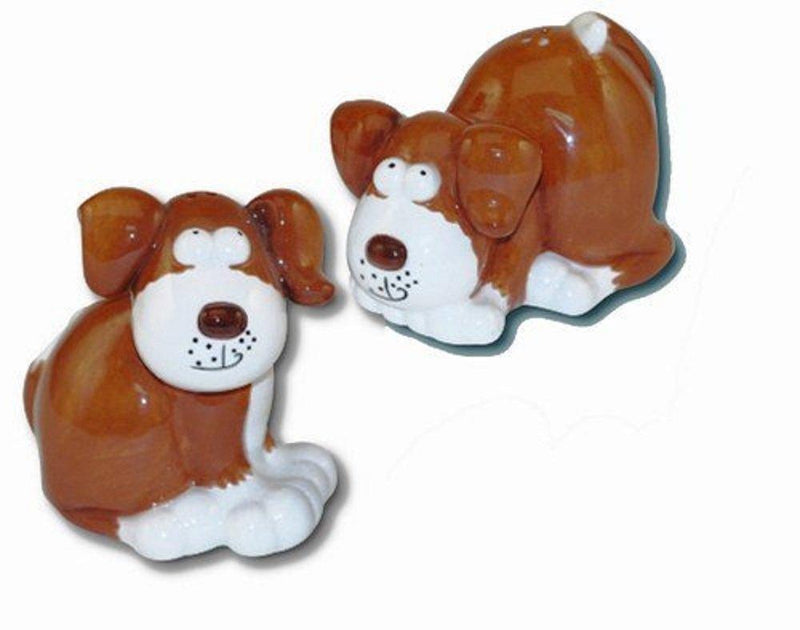Ceramic Dog Salt & Pepper Shakers by Pacific Enterprise