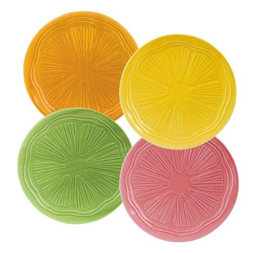 Grasslands Road Citralicious Lunch or Snack Plates, Set of 4