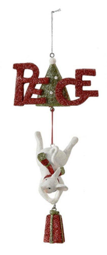 Creative Co-op Mouse Ornament with Holiday Word, Choice of Style