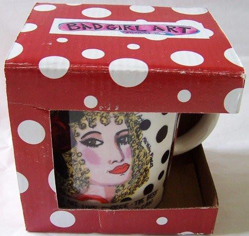 Bad Girl Art Mug by Luckie Street - Men are Like Coffee