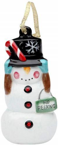 Appletree Design No Peeking! Snowman Ornament