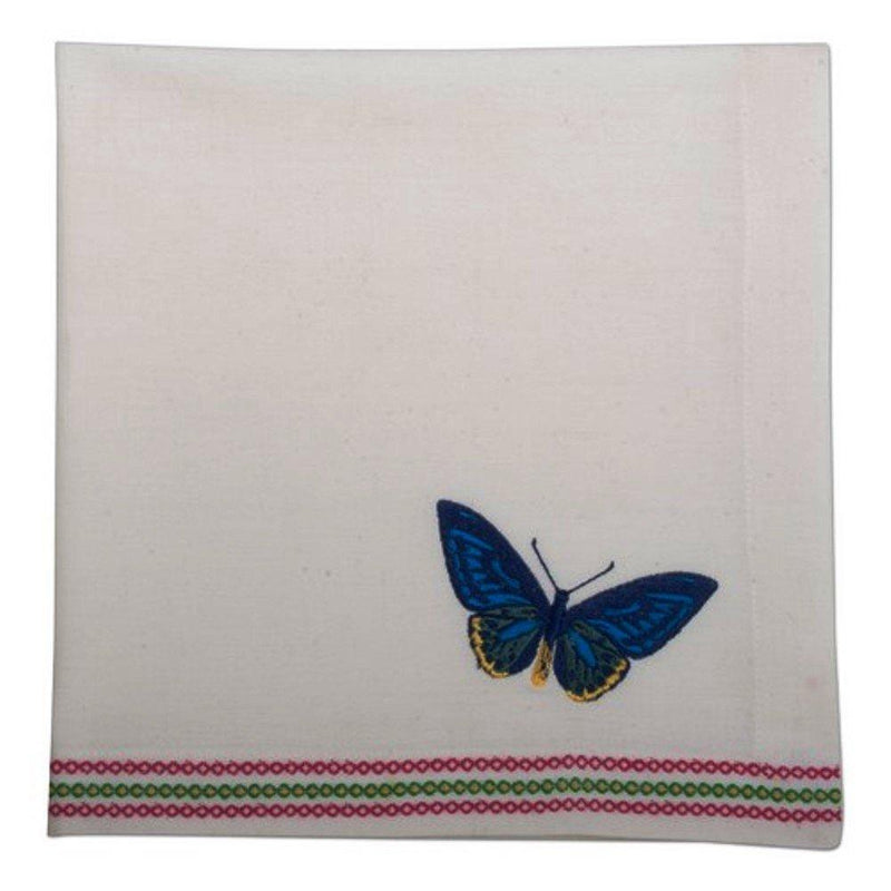 TAG Butterfly Embroidered Napkin, Set of 4 - TAG