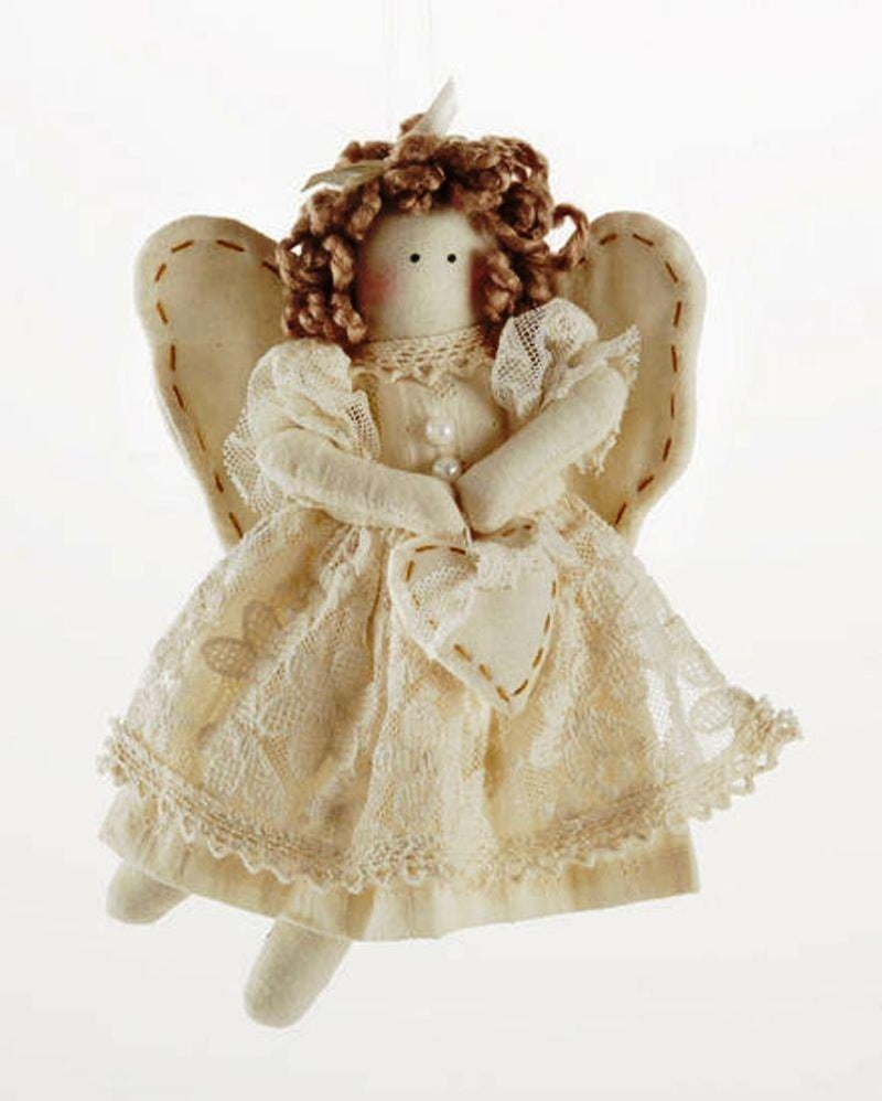 Delton Products Beige Lace Angel Ornament