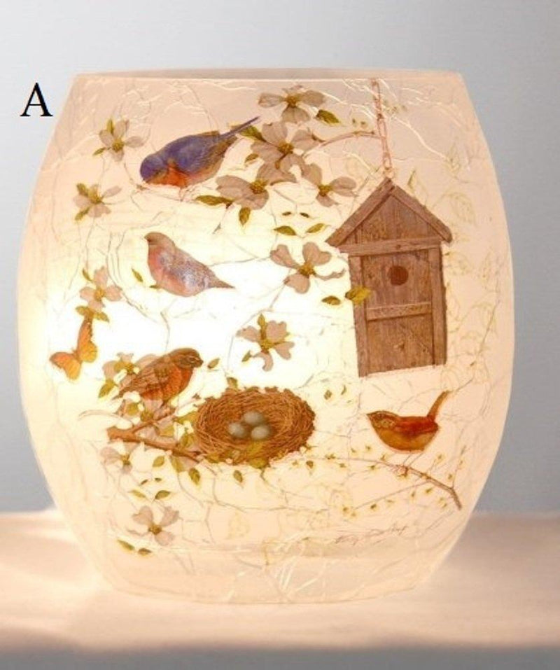 Stony Creek Spring Melody Collection Lighted Glass Jar, Choice of Style