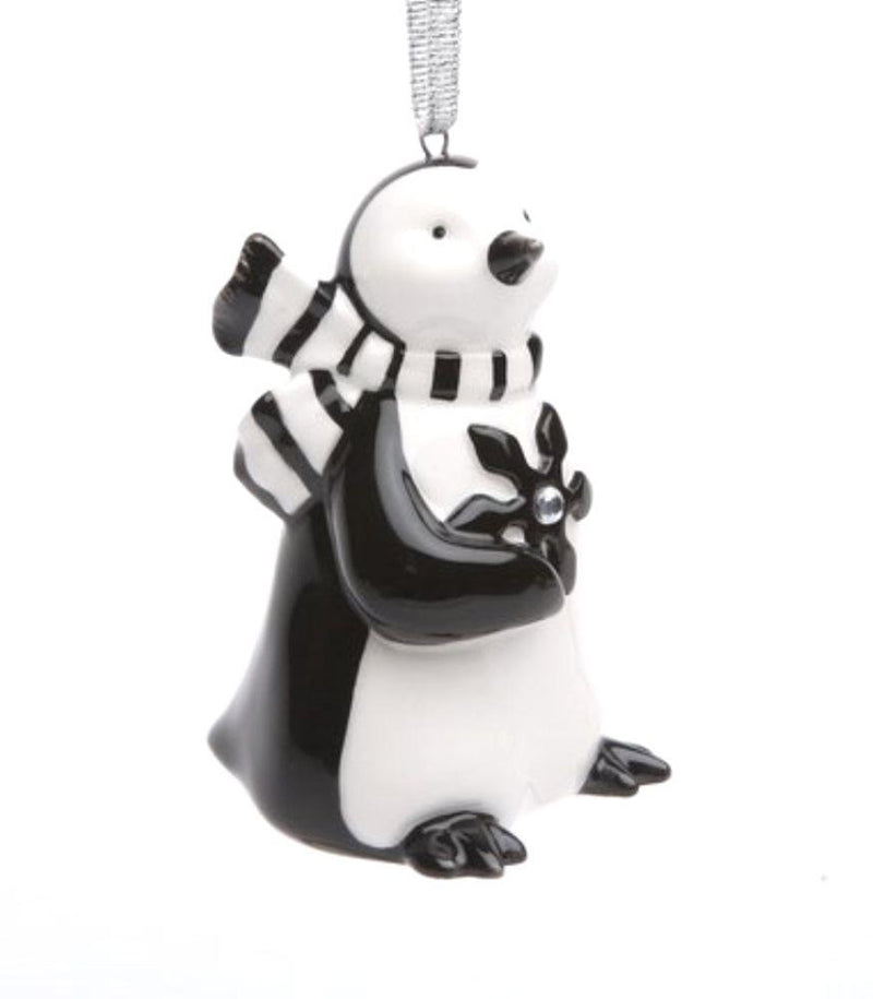 Appletree Design Penguin with Snowflake Ornament