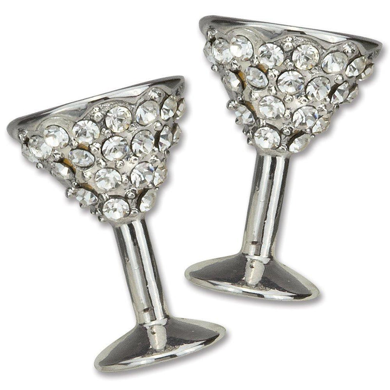 Epic Products Diamond Martini Earrings, Multicolor