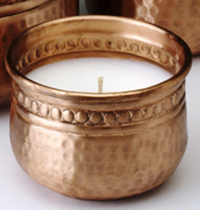 Prosperity Catalyst Akkadian Collection Traditions Made Modern Hand-Hammered Copper Votive