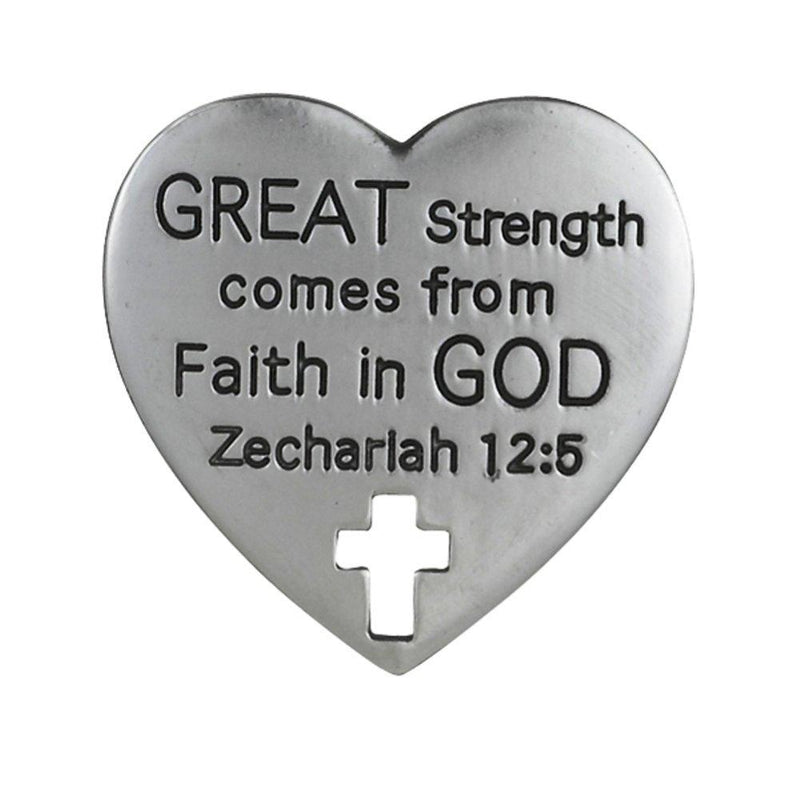 Grasslands Road Heart Shaped Bible Token, Choice of Style