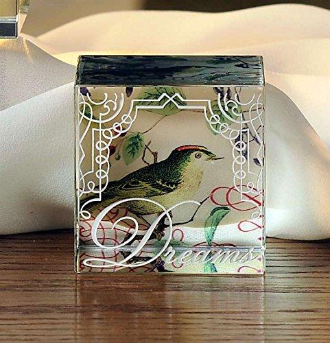 Bella Boutique Glass Cube, Dreams By Giftcraft