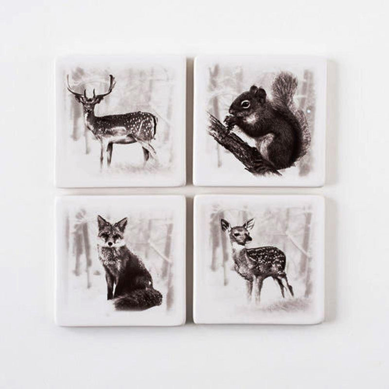 One Hundred 80 Degrees Winter Coaster, Set of 4
