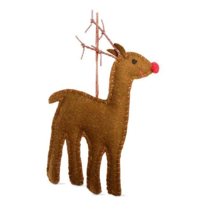 TAG Christmas Collection Whimsy Reindeer Felt Ornament