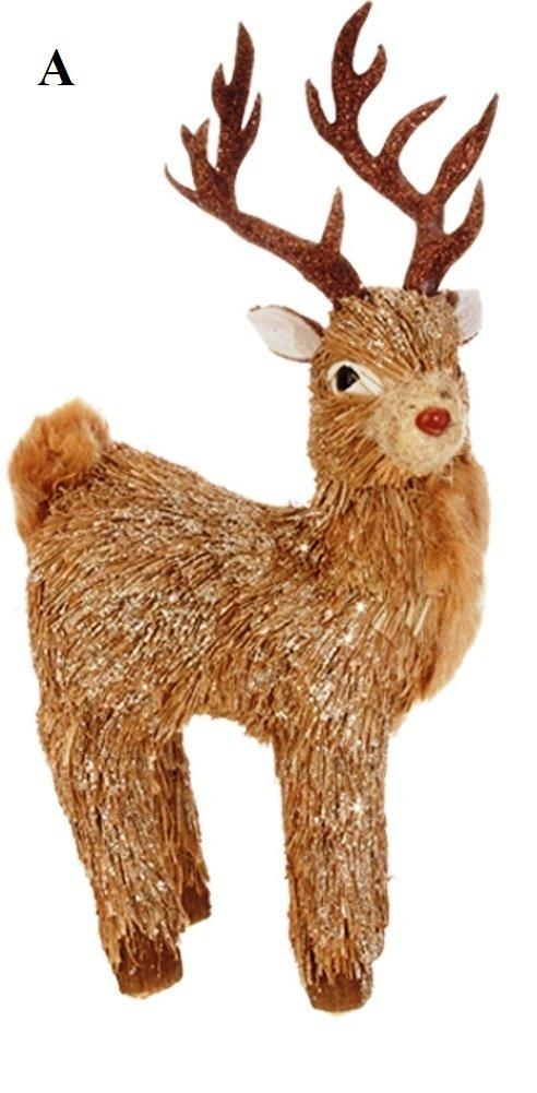 RAZ Natural Elegance 2, Deer Ornament, Choice of Style