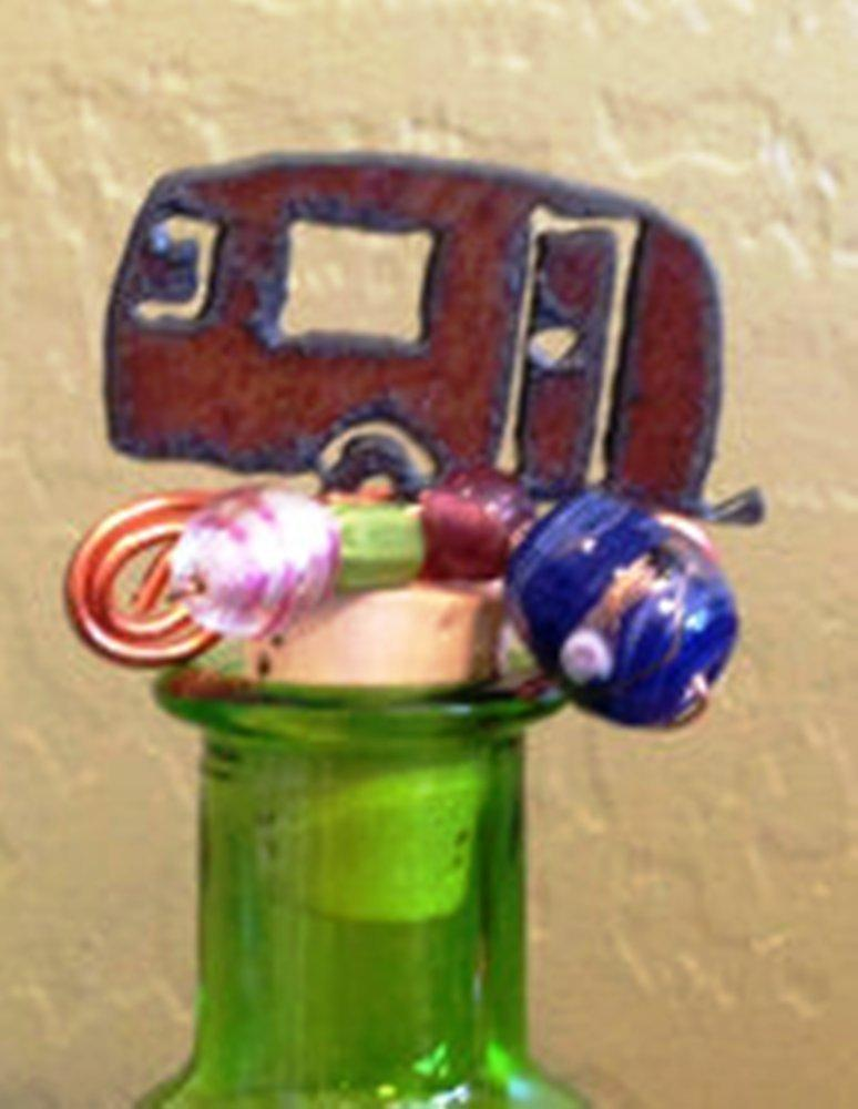 The Rustic Barn Handmade Camper Trailer Wine Bottle Stopper, Made in the USA