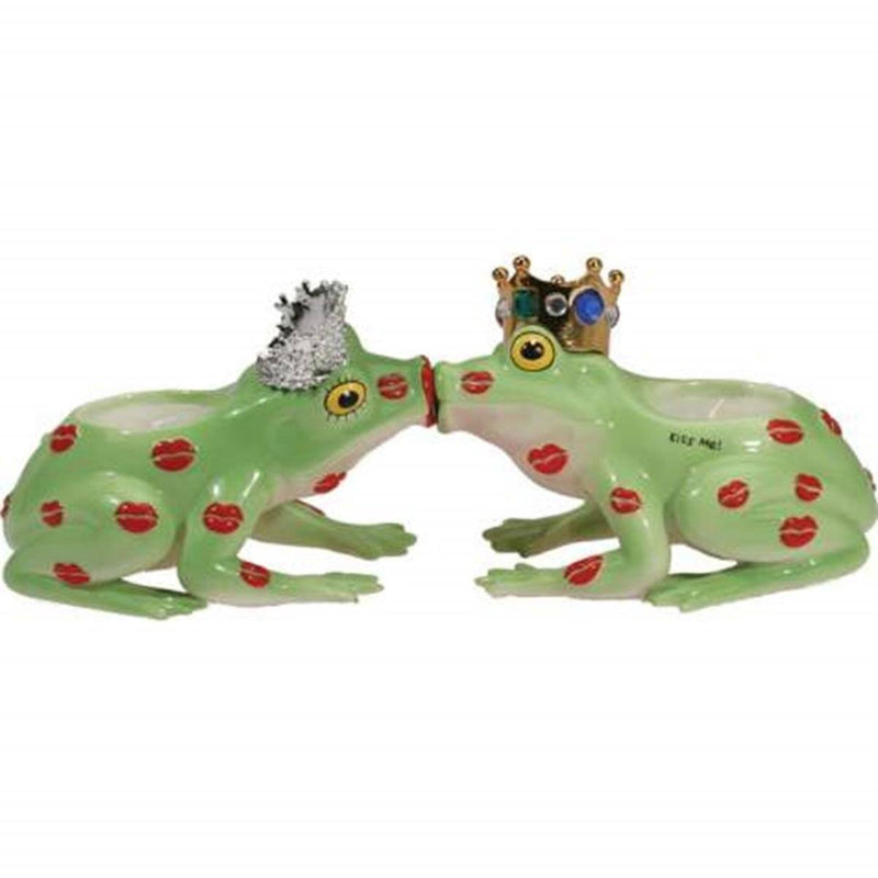 Westland Giftware Prince & Princess Kissing Toads Magnetic Tea Lights