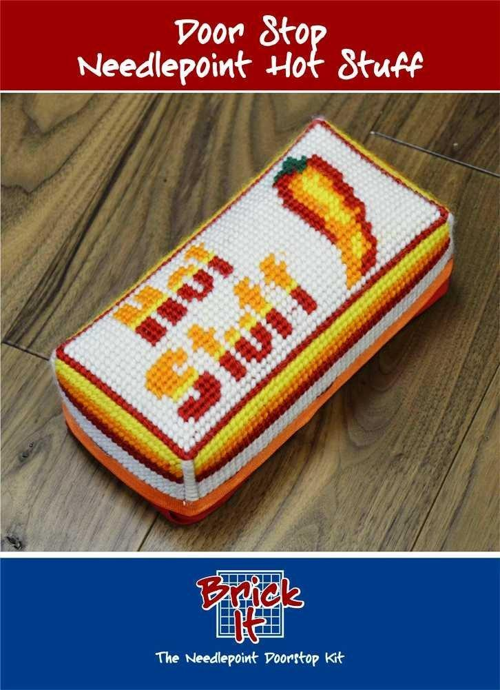 Brick It Needlepoint Door Stop Kit, Hot Stuff