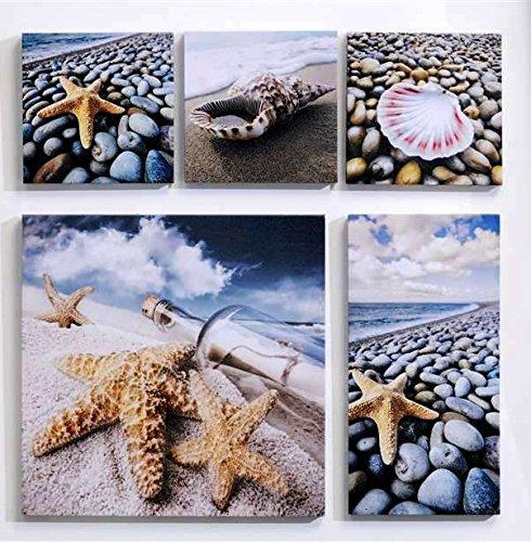 Giftcraft Seashell Design Wall Prints, Set of 5