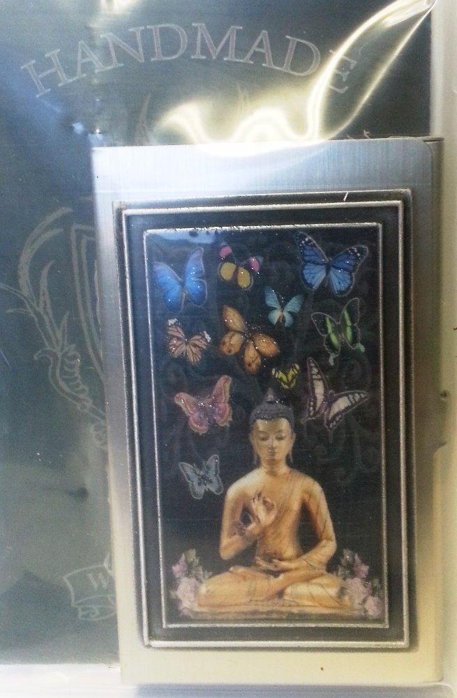 KBD Studio ID Case/Business Card Holder, Butterfly Buddha, Made in the USA