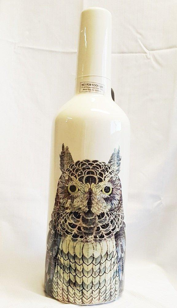 Creative Co-Op Owl Bottle Vase