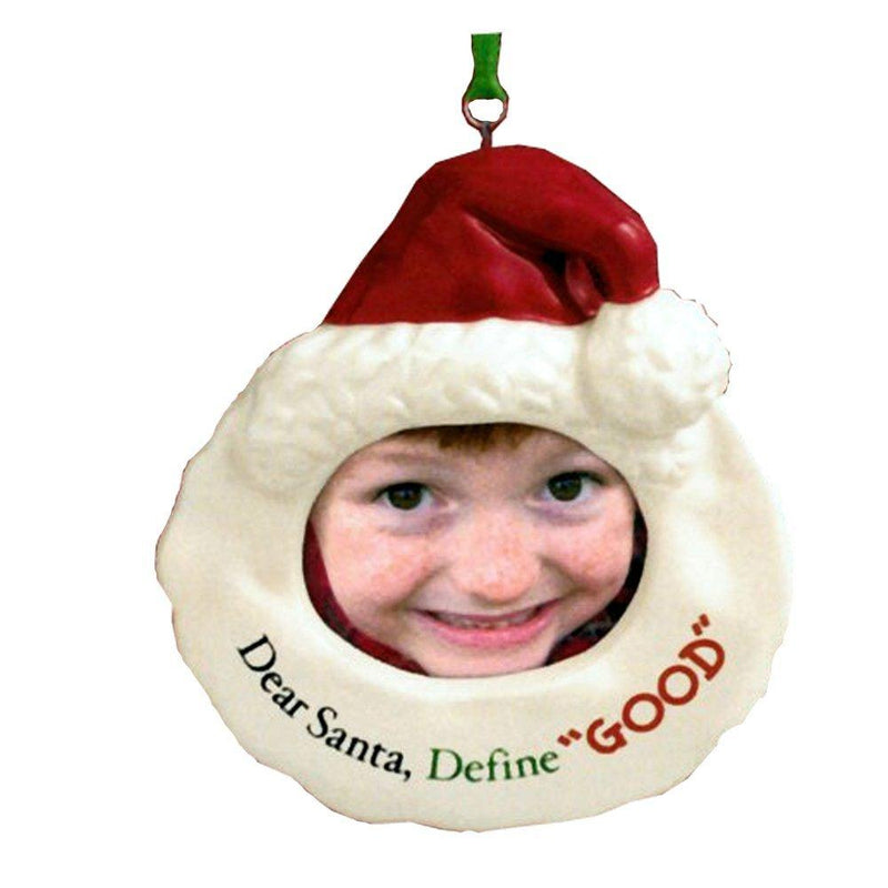 Grasslands Road Christmas Photo Ornament - Dear Santa, Define Good