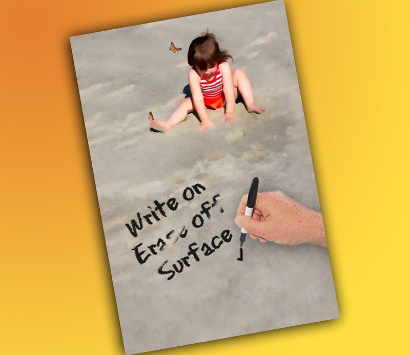 CanvasSNAPSHOT Decorative Dry Erase Board, Simple Things- Child in Sand