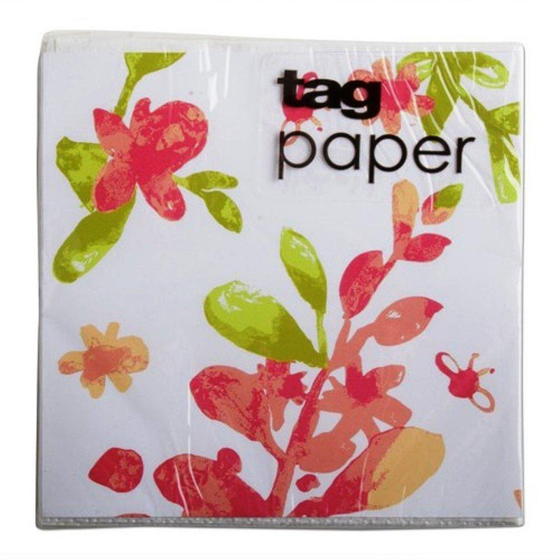TAG Blossoms Cocktail Napkin, Pack of 20