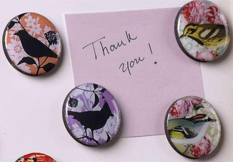 Bella Boutique Magnet Set of 4, Birds by Giftcraft