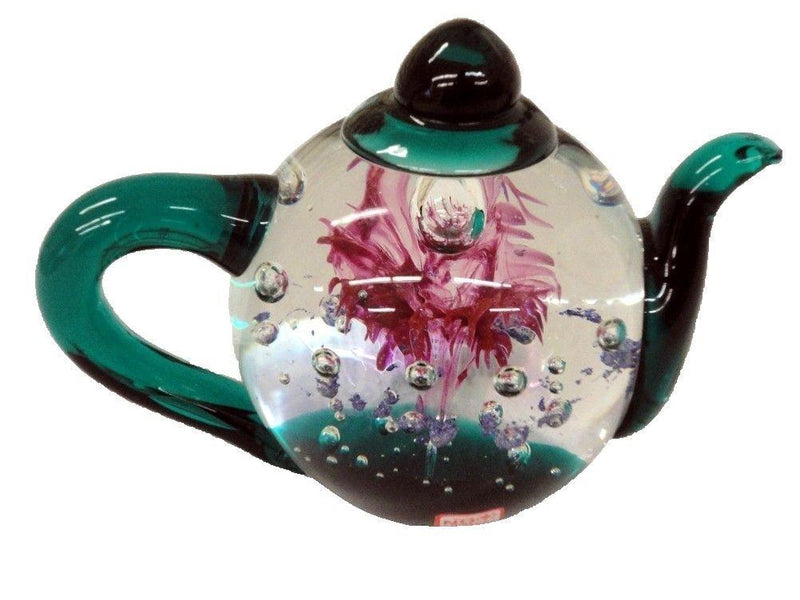Glass Teapot Paperweight, Candy Explosion
