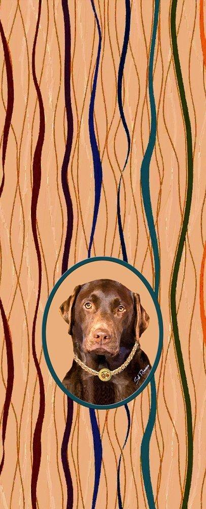 Poppa-Artzee Wine Bottle Bag, Chocolate Lab
