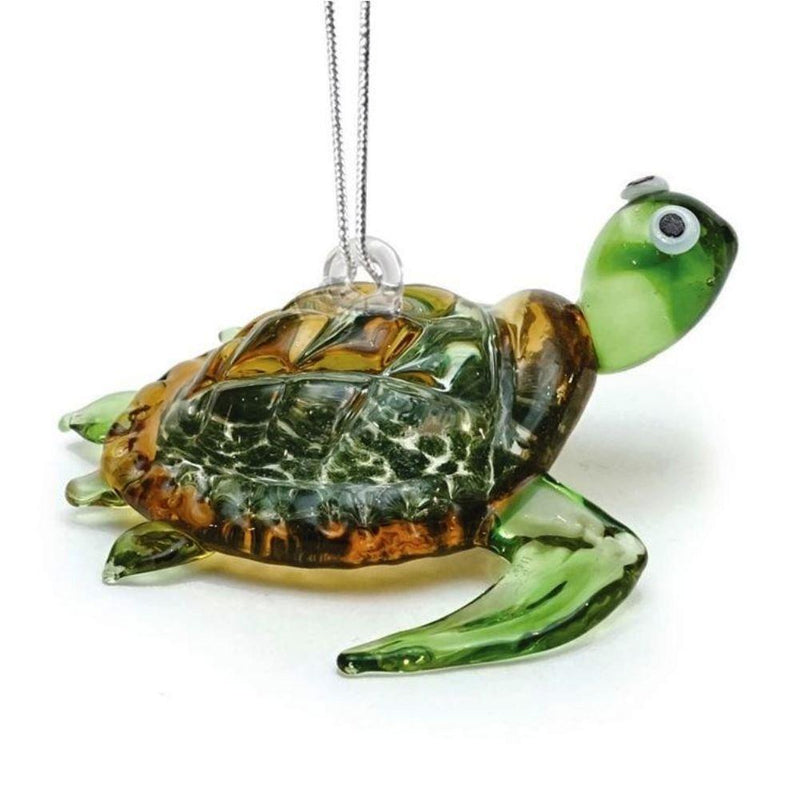 Dynasty Gallery Glassdelights Ornament or Figurine, Baby Sea Turtle, Green