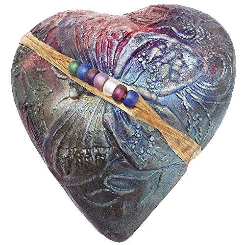 Raku Butterfly Heart Rattle Handmade in the USA By J Davis Studio