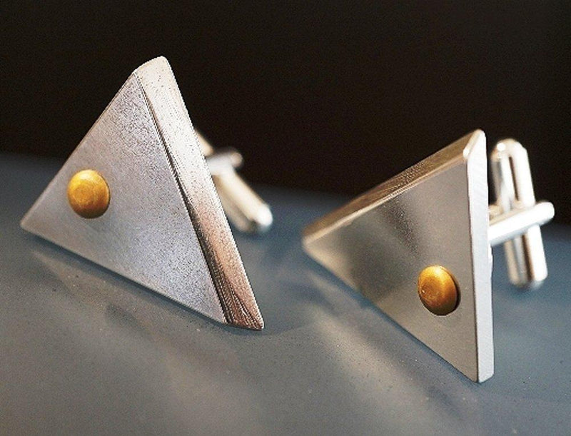 Criffin Designs Slightly Dangerous Cufflinks, Made in the USA