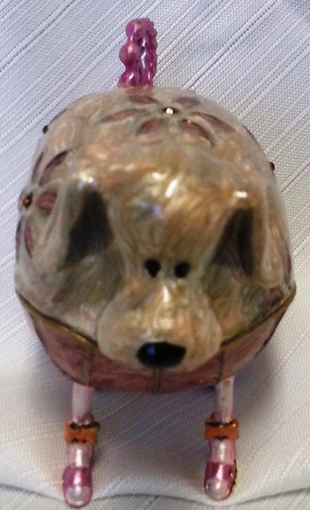 Enameled Metal Box, Choice of Cat or Dog