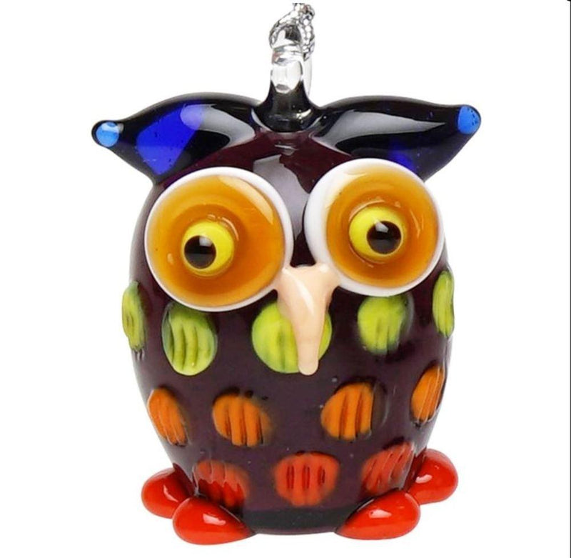 Dynasty Gallery Glassdelights Ornament or Figurine, Owl, Purple