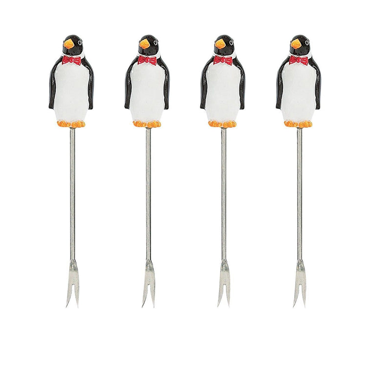Boston Warehouse On the Rocks Cocktail Pick with Holder, Set of 4