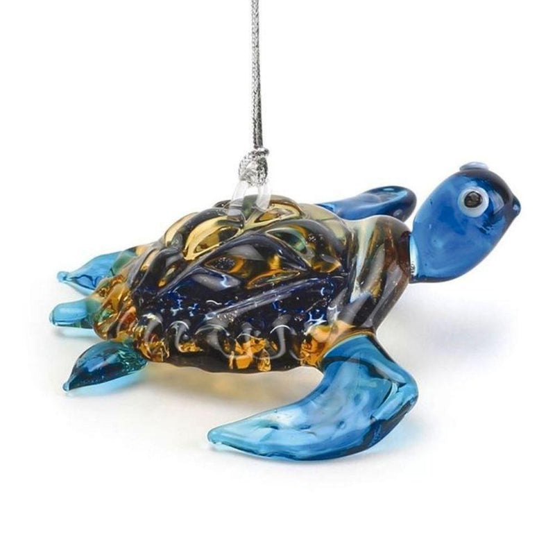 Dynasty Gallery Glassdelights Ornament or Figurine, Baby Sea Turtle, Blue