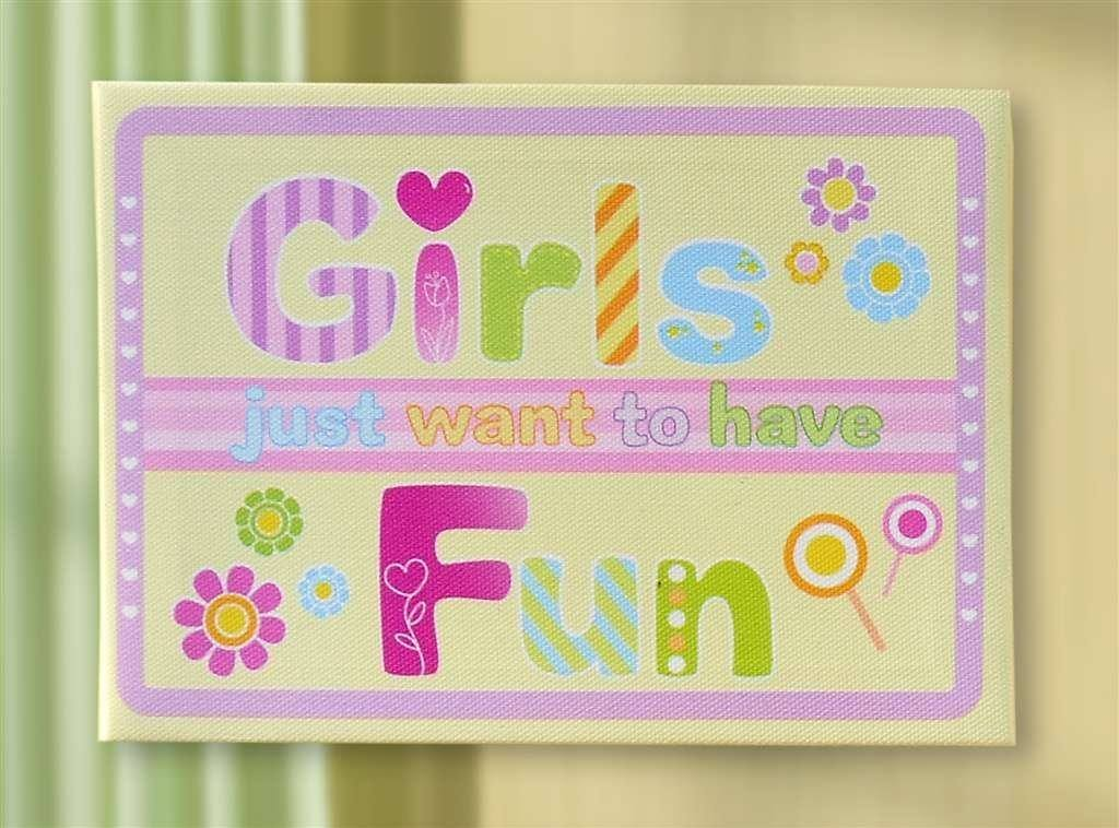 Girls Canvas Wall Art by Giftcraft – Gifts From A Distance