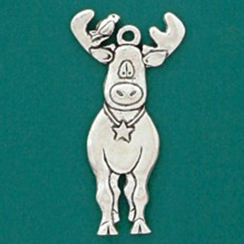 Basic Spirit Global Giving Plant-A-Tree Pewter Ornament, Moose, Made in Nova Scotia