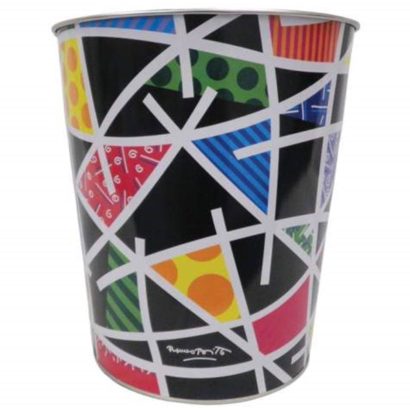 Romero Britto Landscape Bathroom Wastebasket/Trashcan By Westland
