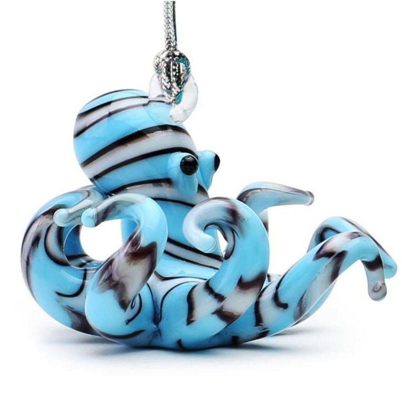 Dynasty Gallery Glassdelights Ornament or Figurine, Striped Octopus, Blue