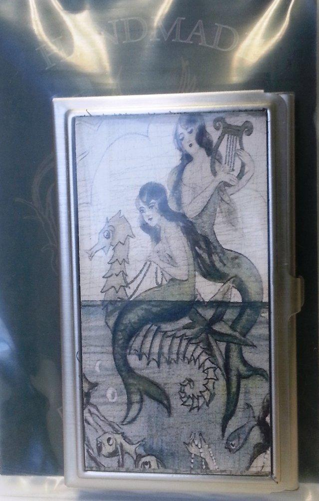 KBD Studio ID Case/Business Card Holder, Mermaids, Made in the USA