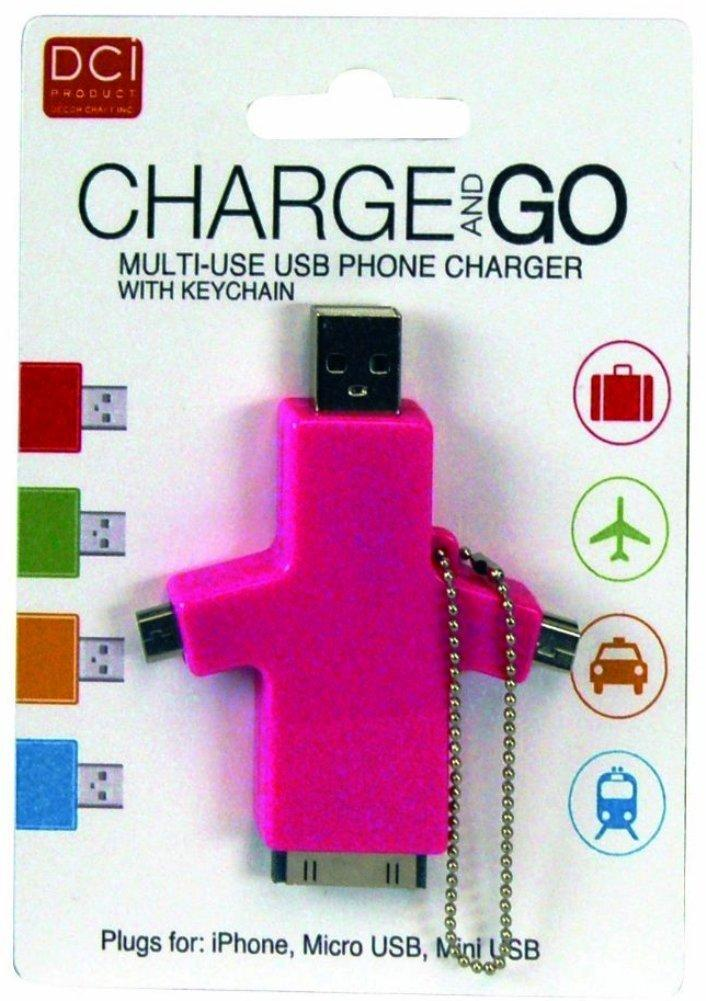 Charge & Go Multi-use USB Phone Charger by Decor Craft - Choice of Colors