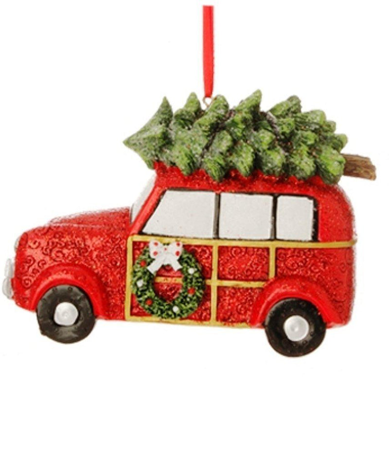 RAZ Jingle All The Way Automobile Ornament, Wagon