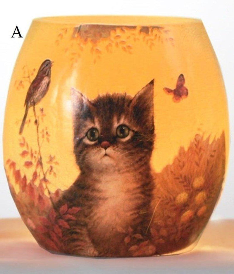 Stony Creek Here Kitty Lighted Glass Jar, Choice of Style