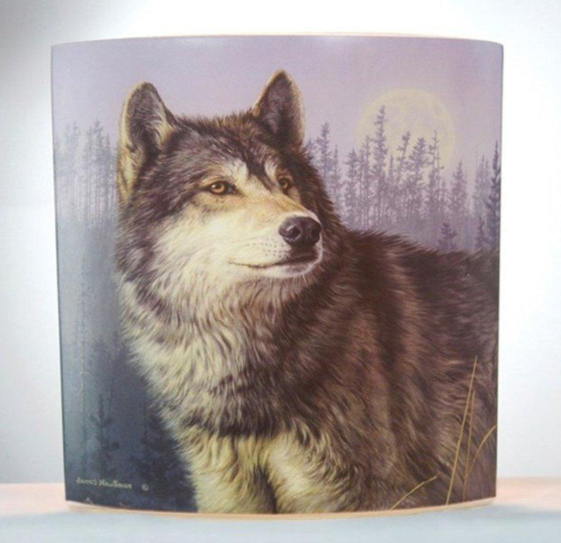 Stony Creek Wolf Lighted Glass Vase, Choice of Style