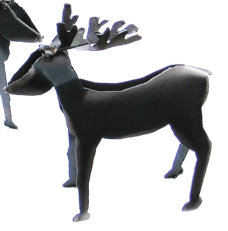 Metallic Evolution Rustic Deer Figurine, Handmade in Canada