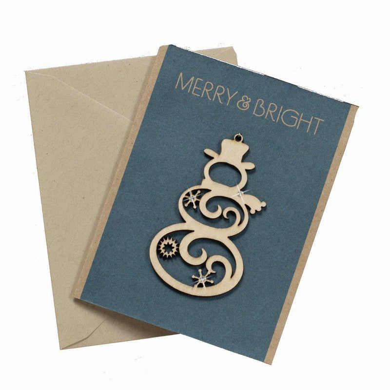 Enesco Flourish Snowman Greeting Card Hanging Ornament, 3.25-Inch