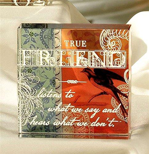 Bella Boutique Glass Block, True Friend, by Giftcraft